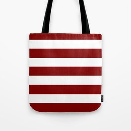 Maroon (HTML/CSS) - solid color - white stripes pattern Tote Bag