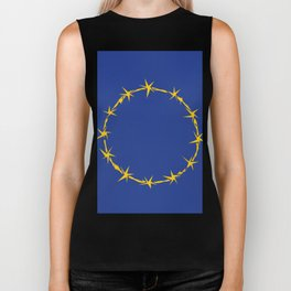 Barbed European Union Flag Biker Tank