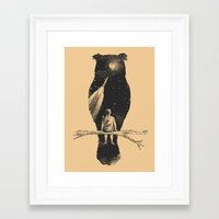 silhouette Framed Art Prints featuring I Have a Dream by Norman Duenas