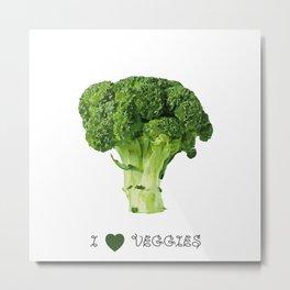 Broccoli - I love veggies Metal Print