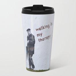 A Gentleman goes walking; Camino to Santiago de Compostela Travel Mug