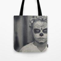 dia de los muertos Tote Bags featuring Dia de los muertos by Brandy Coleman Ford