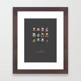 Mega Futurama Framed Art Print