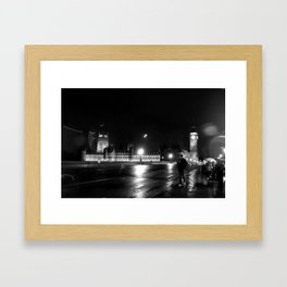 Big Ben - Rain Framed Art Print