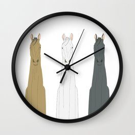 Triple Horses Wall Clock