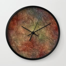 Colorful Earth Tones Brown Blue Abstract Wall Clock