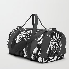 Ghost of the prince - black and white Duffle Bag