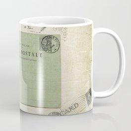 Vintage Grunge - Postcards & Travels Coffee Mug