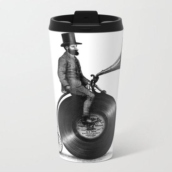 Music Man (monochrome option) Metal Travel Mug