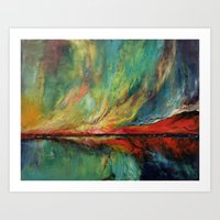 aurora Art Prints featuring Aurora by Michael Creese