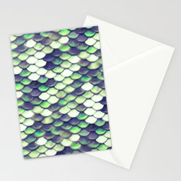 Green Mermaid Sclaes Stationery Cards