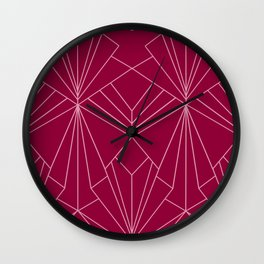 Art Deco in Raspberry Pink - Large Scale Wall Clock