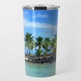 Bora Bora Palm Trees Travel Mug