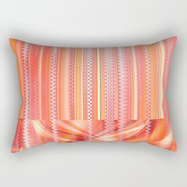 mixed Pattern orange Rectangular Pillow