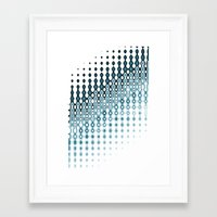navy Framed Art Prints featuring Navy by Design Gregory