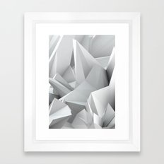 White Noiz Framed Art Print