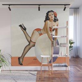 Peter Driben Pin-Up on Drum Wall Mural
