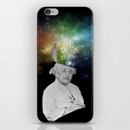 Albert Einstein With A Rainbow Galaxy iPhone Skin