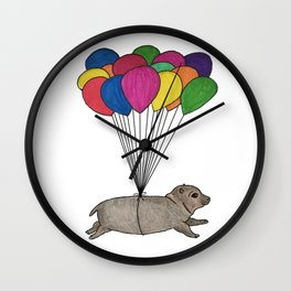 A Smol Hippo Wall Clock