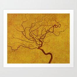 Cerebral in Sand Art Print
