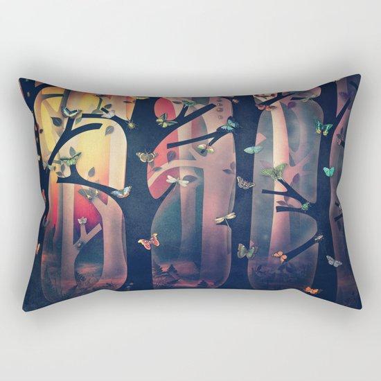 The Woods at Sunset Rectangular Pillow
