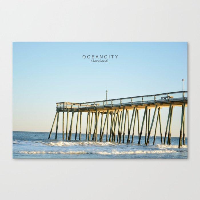 Ocean City Maryland. Canvas Print