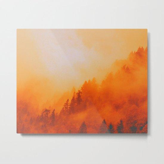 ON FIRE Metal Print