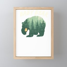 Family Baby Bear Nature Forest Woods Framed Mini Art Print