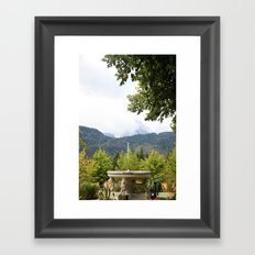 Fountain in the Mountains Framed Art Print