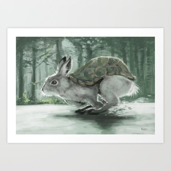 Rabbiturtle Art Print