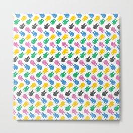 HEYXUNNI Multicolor Logo Metal Print