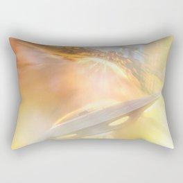 Downtown UFO Rectangular Pillow