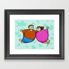 Fat Lovers Framed Art Print