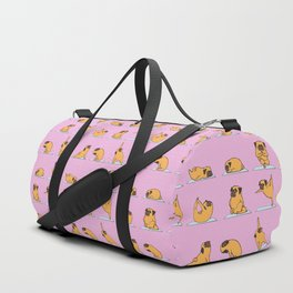 Pug Yoga // Pink Duffle Bag