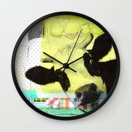 MUH...bunte Kuh Wall Clock