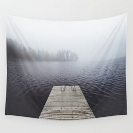 Fading into the mist Wall Tapestry