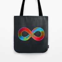 infinite Tote Bags featuring Infinite by deff