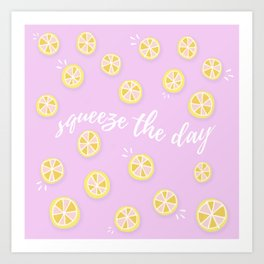 Squeeze The Day | Lemons Art Print
