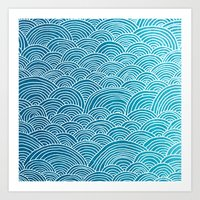 waves Art Prints featuring Waves by Arcturus
