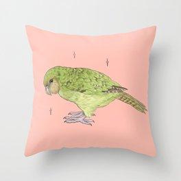 Kakapo Fundraiser Throw Pillow