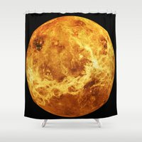 venus Shower Curtains featuring Venus by Tobias Bowman
