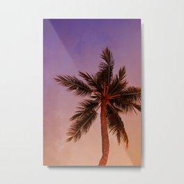 Palm Tree at Sunset Metal Print