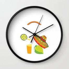 Cinco De Drinko Funny Cinco De Mayo T-Shirt Wall Clock