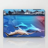 sharks iPad Cases featuring Sharks by Deze Dezines