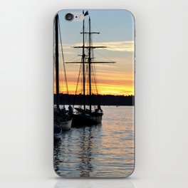 SHIPS AT SUNSET iPhone Skin