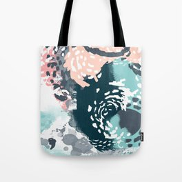 August - Abstract modern painting in bold colors for trendy feminine style Tote Bag