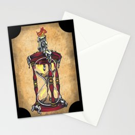 Hourglass & Candle Stationery Cards