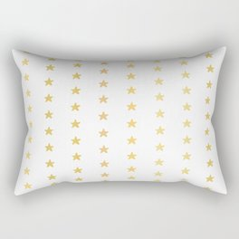 Luxe Gold Tiny Christmas Stars Confetti, Drawn Seamless Vector Pattern Rectangular Pillow