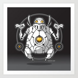 Zen Robot Art Print