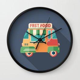 Fast Food Van Wall Clock